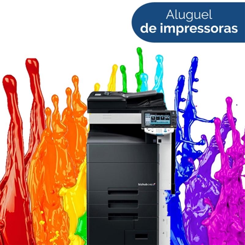 Onde Encontro Máquina Copiadora Colorida para Alugar Ribeirão Pires - Aluguel de Máquina Copiadora