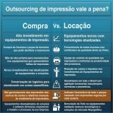 empresa de alugar impressoras para serviços Vila Romana