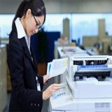 empresa de máquinas copiadoras preto e branco Santos