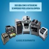 serviço de outsourcing de impressão para grande empresa Vila Anastácio