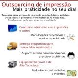 serviços de outsourcing de impressão em empresas Vila Carrão