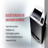 empresas de locação de impressoras a laser Santa Cecília