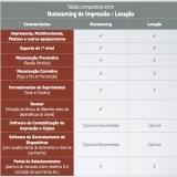 outsourcing de impressão para pequenas empresas Bairro do Limão